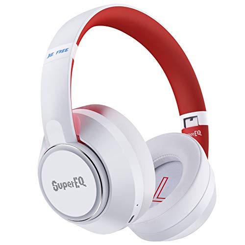 Hybrid Active Noise Cancelling Headphones,SuperEQ ANC Wireless Bluetooth 5.0 Kopfhörer Over Ear mit 45Std.Laufzeit,Transparenzmodus,Mikrofon,Bassklang,Schnellladen für iOS/ /Android/PC