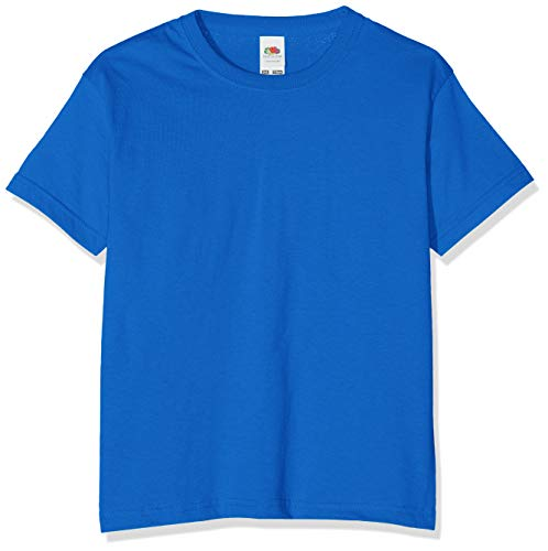 Fruit of the Loom Jungen T-Shirt Value T, Blau (Royal Blue),7-8 Jahre (Herstellergröße:30)
