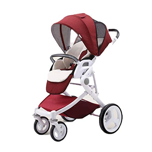Purchase Foldable Baby Stroller Can Sit Reclining High Landscape Baby Stroller Lightweight Baby Stro...