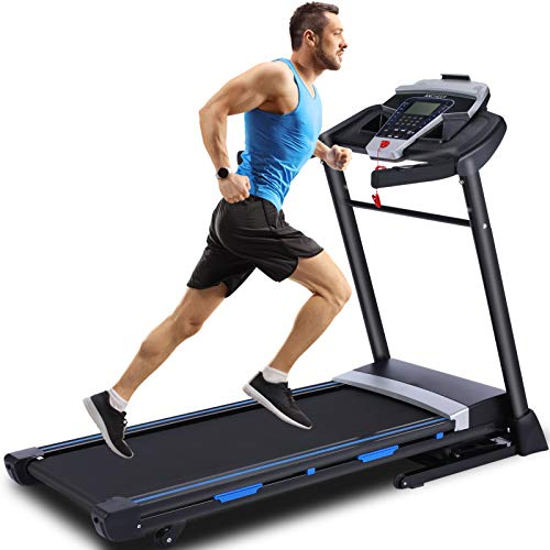 ANCHEER Folding Treadmill, 3.25Hp App Control Foldable Treadmill with Automatic Incline and Bluetooth Speaker, 300lbs Weight Capacity, Best Walking Running Heavy Duty Treadmills for Home Office Use