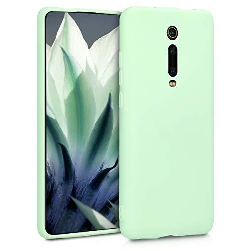 kwmobile Carcasa para Xiaomi Mi 9T (Pro) / Redmi K20 (Pro) - Funda para móvil en TPU Silicona - Protector Trasero en Menta Mate