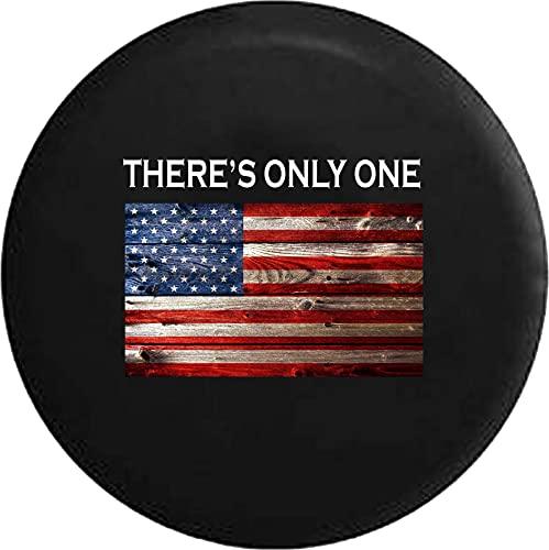 Cubiertas De Neumáticos para Rueda De Repuesto Solo Hay Una Bandera De Estados Unidos Rústica Vintage Americana A Prueba De Polvo, Impermeable, Protección Solar Y Protección contra La Corrosión.