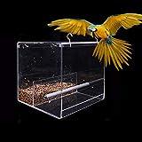 Lepeuxi Mangeoire à Oiseaux Suspendue pour mangeoire à Oiseaux en Cage