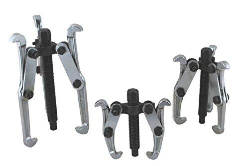 3 Extractores de 75, 100 y 150 mm para extraer Poleas, rodamientos, cojinetes, engranajes.