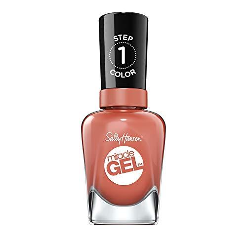 Sally Hansen Miracle Gel Nagellack ohne künstliches UV-Licht Per-Suede, Braun, mit intensiv glänzendem Gel-Finish, Nr. 650, (1 x 14,7 ml)