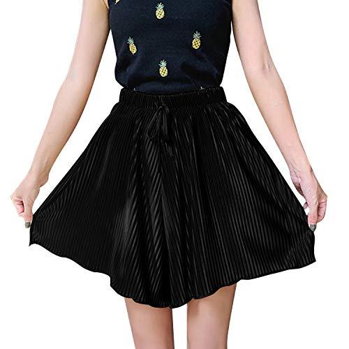 Libella Damen Shorts Sommer Kurze Hosen mit hohem Bund Elastische Stoffhose Strand Shorts Tunnelzug Schlafanzughose Pyjamahose Kurz 4104BL-SM