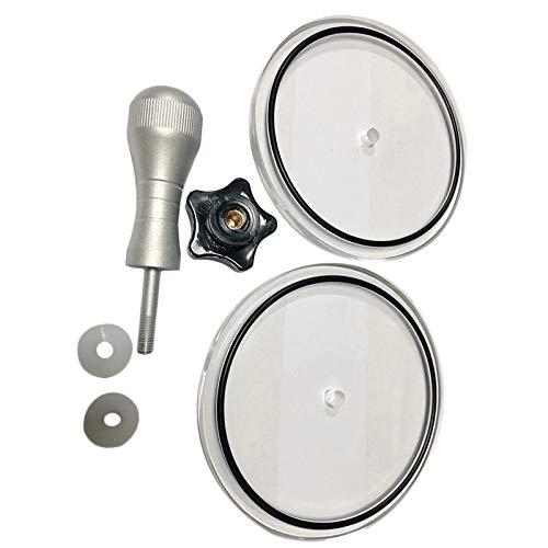 CareMont Manejar de Aluminio LP Disco de Vinilo Clip de Lavado de Discos Herramienta de Limpieza de Discos de Vinilo Limpiador de Tocadiscos Impermeable (Negro)