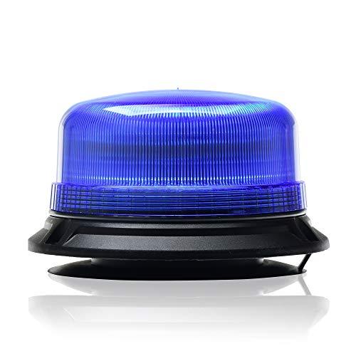 LED-MARTIN® Rundumleuchte XR20 ECO - 12V/24V- Blau - Magnetfuß - 3,5m Kabel - für Polizei, Feuerwehr, THW - ECE-R65 - kompakte Bauform