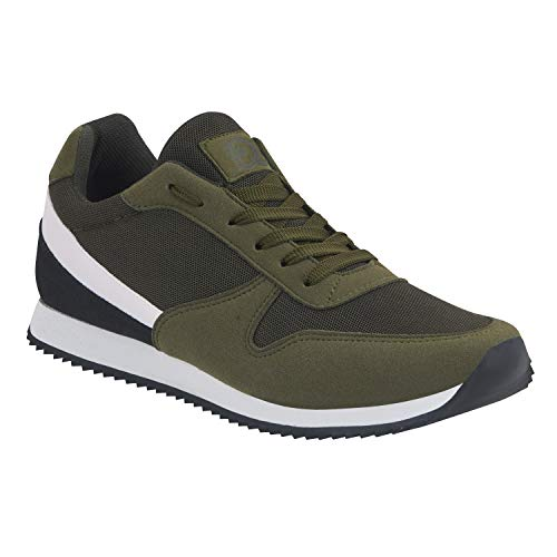 cklass 046-17 Tenis Sneakers Casual Urbano Hombre Color Verde Militar Talla: 26