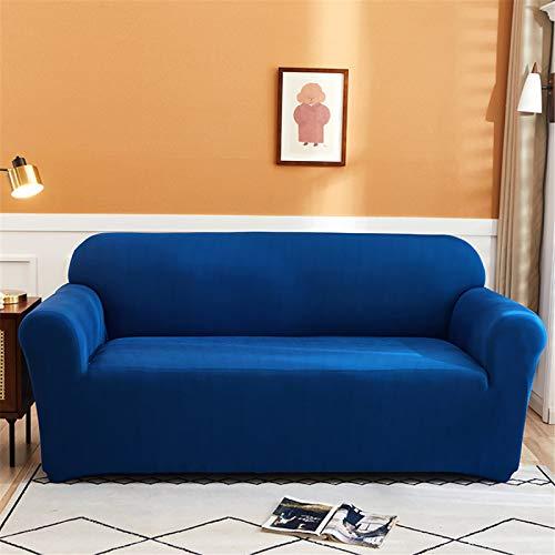 Funda De Sofá Elástica Antideslizante Retráctil De Rayas Azules, Cojín De Sofá De Sala De Estar En Casa, Funda Protectora De Sofá De Reposabrazos 2 Seater (145-185 cm)