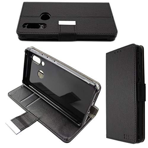caseroxx Handy Hülle Tasche kompatibel mit Sharp Aquos D10 Bookstyle-Hülle Wallet Hülle in schwarz