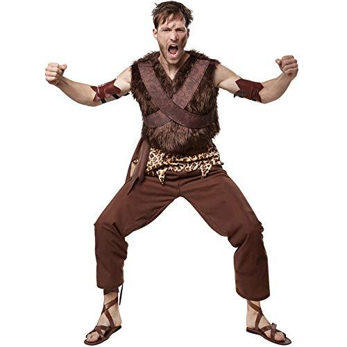 dressforfun 900575 - Herrenkostüm Steinzeit Clanchef, Cooles Steinzeitkostüm aus dem Neandertal (L | Nr. 302765)