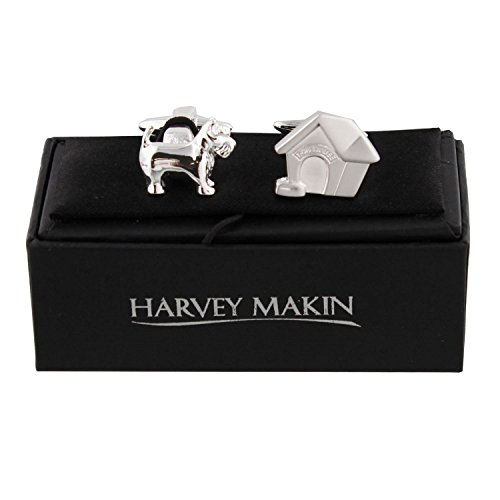 Paire de Harvey Makin, maison pour chien, boutons de manchettes, un cadeau idéal pour les amoureux des chiens (HM612).
