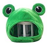 luosh Animal Hat Cap Novedad Divertido Big Frog Eyes Cute Cartoon Plush Hat Toy Green Headgear Cap Disfraz de Cosplay para cumpleaños Carnaval Fiesta Favores