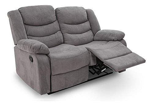 Duca Sillón Reclinable 2 Plazas Manual Love Seat Reposet Avanti - Cosmo Grey