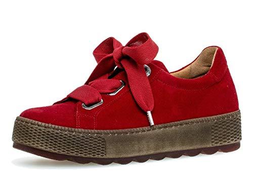 Gabor Damen Sneaker 36.535, Frauen Low-Top Sneaker,Halbschuh,Schnürschuh,Strassenschuh,Business,Freizeit,Rubin,41 EU / 7.5 UK