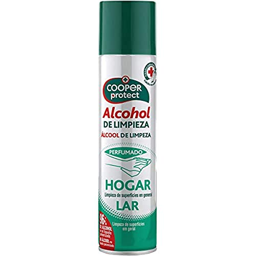 Cooper Protect Aerosol Perfumado |96% de Alcohol| Limpieza de Superficies| Contenido: 300 ml, Estandar, 300