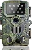 BIGFOX Cámara Caza 20MP 1080P HD 8PCS 850nm Bajo Brillo IR Leds IP66 Cámara Caza Nocturna 120ºAmplio Rango de Detección 0,2s Velocidad de Disparo Fototrampeo Vigilancia de la Fauna, Caza