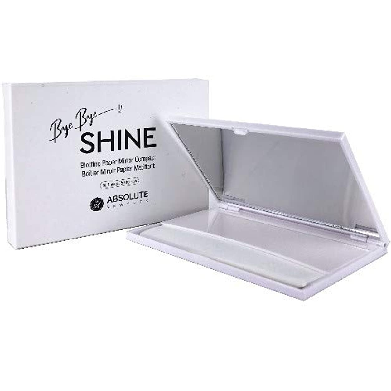 対処受信機印刷する(6 Pack) ABSOLUTE Bye Bye Shine Blotting Paper Mirror Compact (並行輸入品)