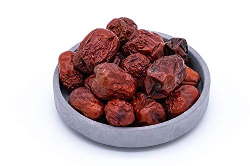 Jujube bio séché, baies de dattes rouges – 1kg - naturel et non traité – de collection sauvage – crues – d'Ouzbékistan