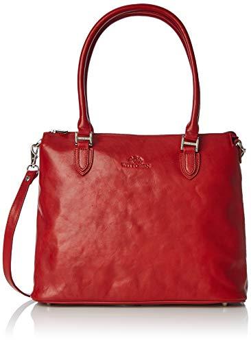 Wittchen Klassische Tasche | 27x34cm, Narbenleder | Passend für A4 Größe: Nein | Rot, Kollektion: Venus | 35-4-049-3