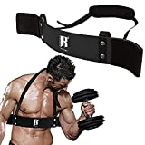 RIMSports Arm Blaster for Biceps & Triceps - Premium Bicep Blaster for Curling Bars Weight Lifting Bodybuilding Bicep Curl Support Isolator for Muscle Gains, Arm Isolator Bicep Curl Bar Equipment