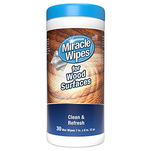 MiracleWipes for Wood Surfaces - Remove Dirt and Grime Buildup - (30 Count)