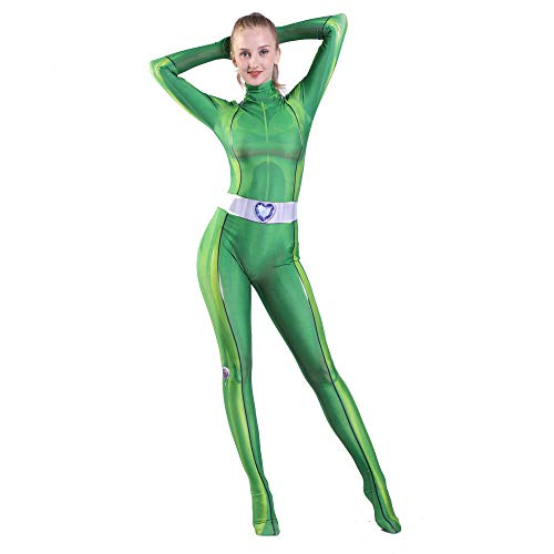 Totally Spies Cosplay Costume Anime trèfle Ewing Samantha Simpson Alexandra Zentai Spandex combinaisons body femmes filles