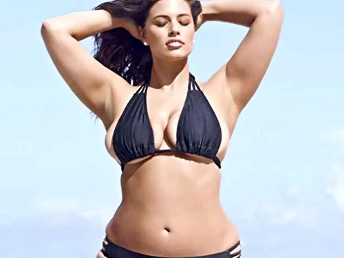 bucraft Ashley Graham Bild Posiert mit einem kleinen Bikini, 20,3 x 25,4 cm