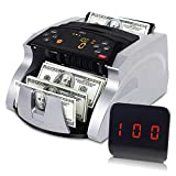 HTCY Portable Money Counter Machine with Counterfeit Detector, Bill Counting Machine,...