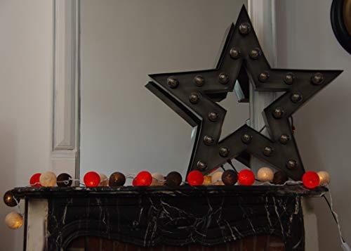 Les Merveilleuses d'Augustine - Guirlande lumineuse 20 Boules Industriel