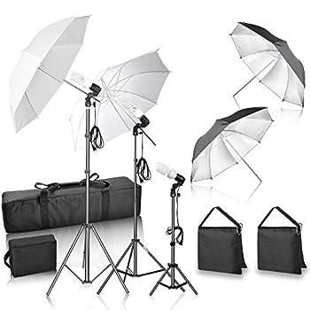 GloShooting Photography Lighting Umbrella Soft Kit 600W Photo Portrait Daylight Continuous Lighting for Video Studio