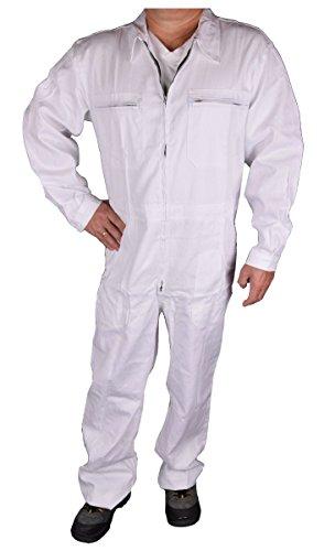 Iwea Iwea Stabiler Arbeitsoverall Arbeitskleidung Overall in Blau (44, Weiß)