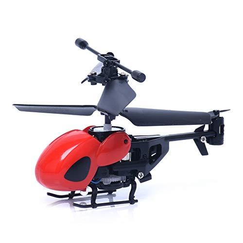 Telecomando per elicottero Gowsch Mini RC 2CH RC elicottero radiocomandato telecomando aereo Micro 2 canali regalo - rosso