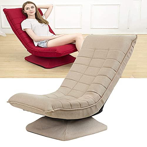 Lazy Golvstol 360 graders vridbar justerbar 3 positioner ryggstöd hög rygg soffa vikbar inomhus spelläsning vilostol