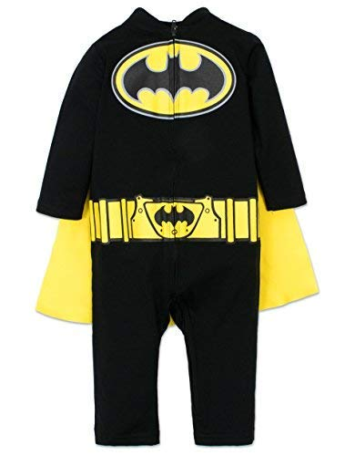 Warner Bros. Batman Infant Baby Boys' Costume Coveralls with Cape Set...