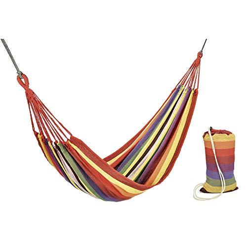 HI Hamac pour 1 Personne Lit Suspendu Hamac de Jardin Extérieur Hamac de Camping Siège Suspendu Balancelle Patio Terrasse Voyage Randonné
