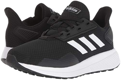 adidas Unisex-Kid's Duramo 9 Running Shoe, Black/White/Black, 5 3