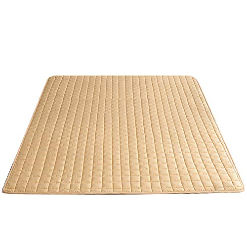 SJH Tatami Mattress, Healthy And Comfortable Fabric, Washable Non-slip Mattress, Cotton Mattress, Foldable, Breathable, Warm And Thick, You Can Enjoy A Fresh S(Color:Khaki,Size:1.2 * 2.0M)