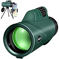 SHRATE High PowerWaterproof 10x42 Compact HD Monocular for Adults
