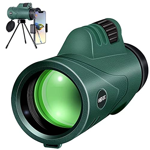 Monocular Telescope, SHRATE High Power 10x42 Compact HD Monocular for Adults, Waterproof Monocular Scope BAK4 Prism with Smartphone Holder & Tripod for Bird Watching Hunting Traveling Concert Sports