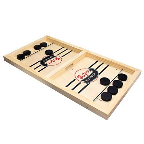 ZZALLL Jeu de Table de Hockey de Bureau en Bois tête à tête pour Enfants et Adultes Hocke Portable