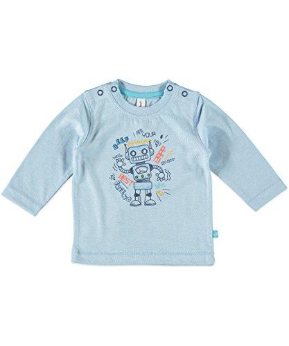 bfc babyface Baby Jungen Langarmshirt Roboter 6227605 (50/56, Blue Melee)