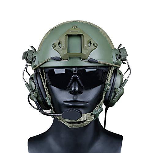 GODNECE Helm Headset Airsoft Headset Taktisch Headset Militär Helm WST Gen.5 Jagd Headset Rauschunterdrückungs Headset (OD)