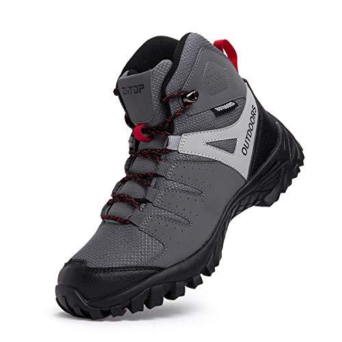 Walking Boots Men High Rise Hiking Boots Lightweight Trekking Boot Walking Shoes Man Anti-Slip Ankle...