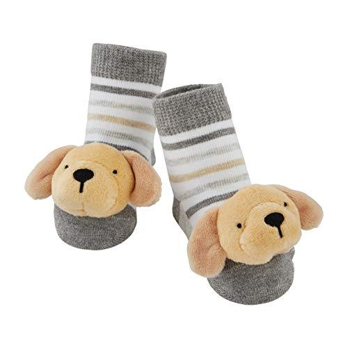 Mud Pie Baby Dog Rattle Toe Socks, Yellow Lab, 0-12 Months
