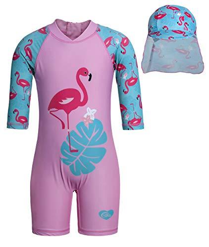 Cotrio Maiô infantil para meninas Crianças meninas Sol Protetor Rash Guard Shirts Roupa de banho Rosa 5-6 anos