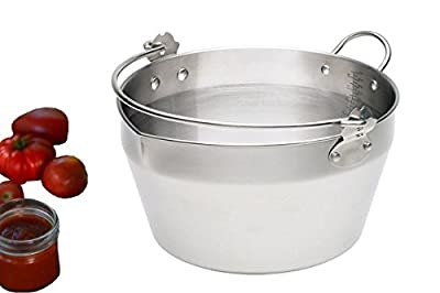 Homemade Jam Pot Stainless Steel Maslin Pan For Jelly & Soup,Canning Tools (4.5Litre - 4qt)