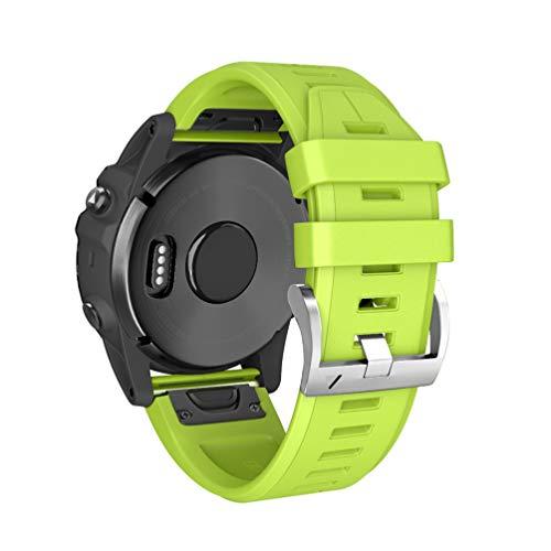 HappyTop, Cinturino Sportivo di Ricambio per smartwatch Garmin Fenix 3/Fenix 3 HR/Fenix 5X/Fenix 5X Plus, Uomo, Verde