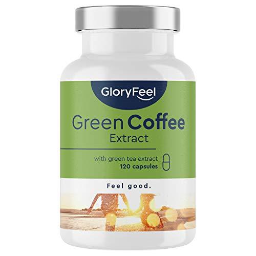 Complejo de Café Verde con cafeína natural y vitaminas - Para perder peso, quemar grasa y disminuir el apetito - 120 Cápsulas Veganas - Sin aditivos